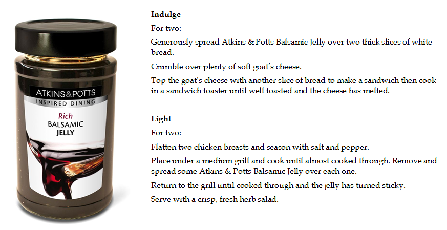 Balsamic Jelly Recipe Ideas Light and Indulge