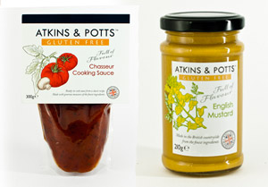 Gluten Free Help try Atkins and Potts Products